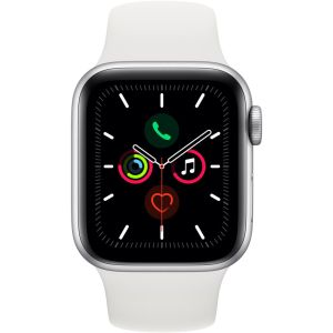 Apple Watch Series 5 GPS - 40mm Zilver Aluminum Case met Wit Sport Band
