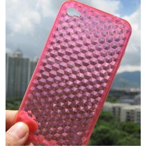 TPU Case Apple iPhone 4 | 4S Diamond Pattern Pink