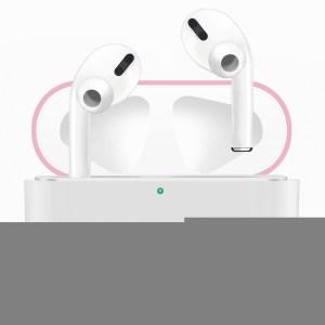 Voor Apple AirPods Pro Twee kleuren draadloze koptelefoon beschermhoes (roze wit)