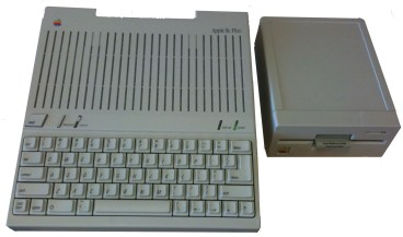 Apple IIc Plus with external Apple 5.25 drive