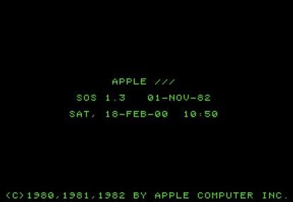 Apple III Startup