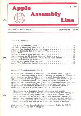 Apple Assembly Line, Nov 1984