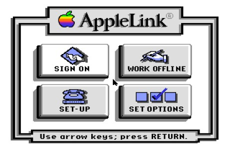 AppleLink IIGS start screen