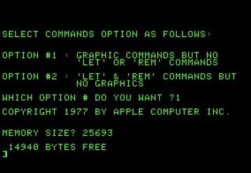 Applesoft I