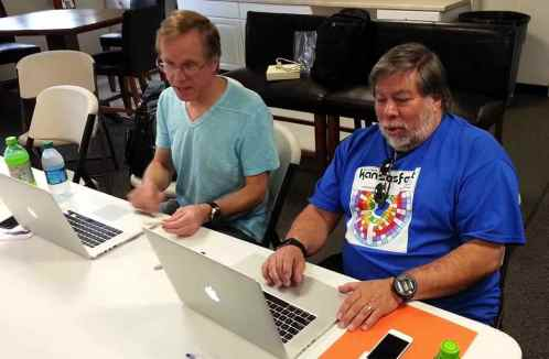 Wigginton and Woz at KFest