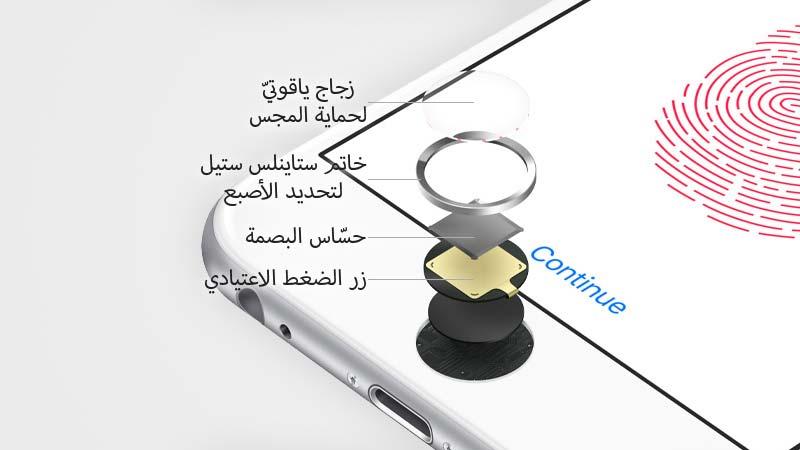 القطع الداخلية ومكونات حساس Touch ID