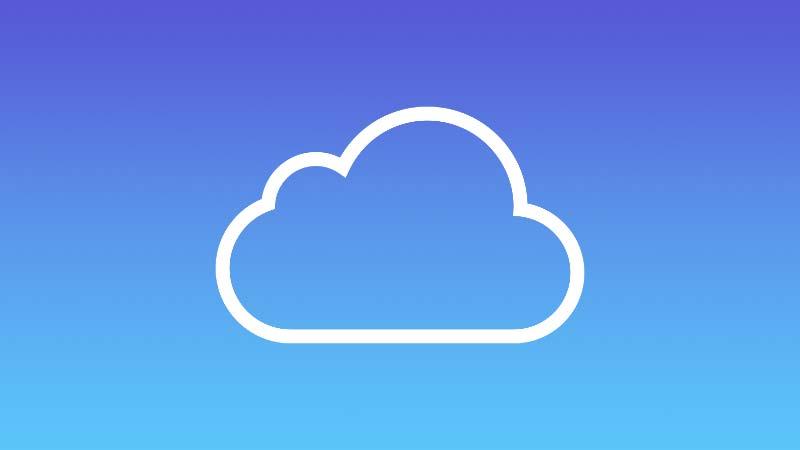 شعار خدمة iCloud السحابية
