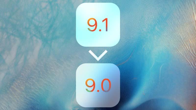 داونجريد من iOS 9.1 إلى iOS 9.0
