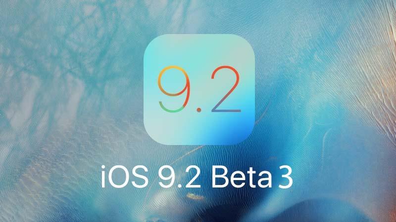 تحديث iOS 9.2 Beta 3