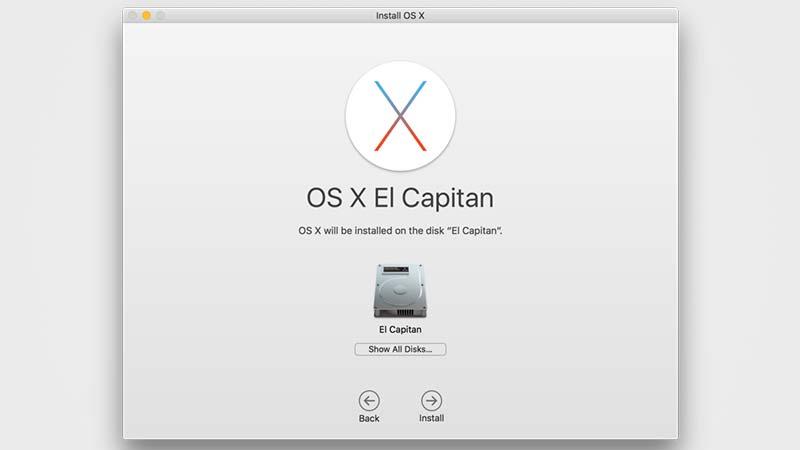 تنصيب ماك OS X El Capitan