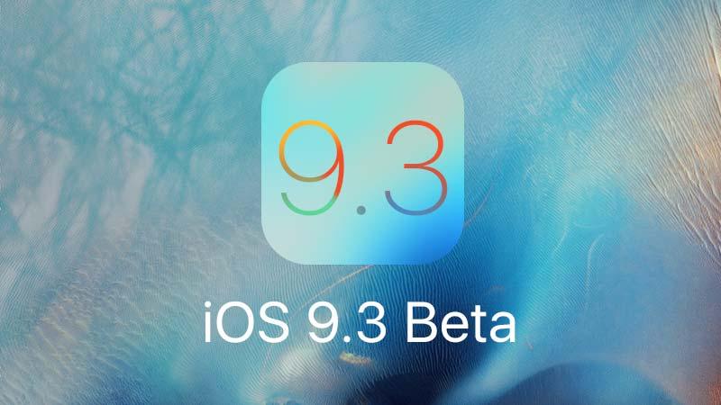 تحديث iOS 9.3 بيتا