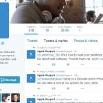 حساب Apple لدعم العملاء تويتر