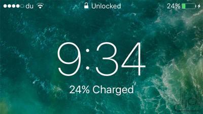 شعار فتح القفل في iOS 10 بيتا 2