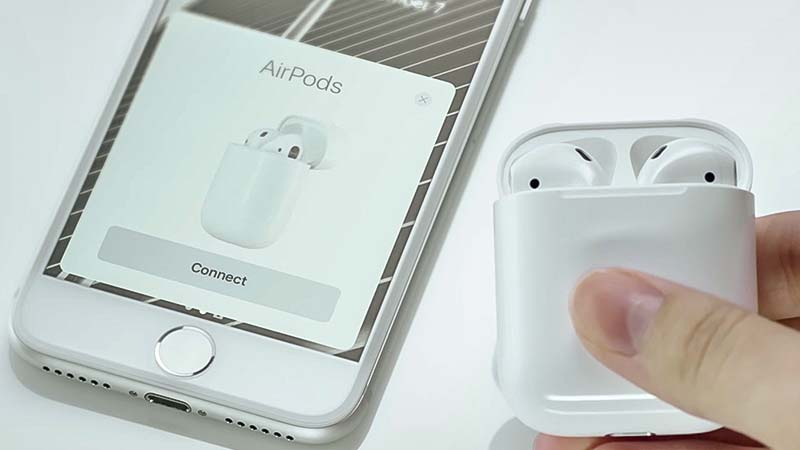 اتصال سماعات AirPods مع الايفون