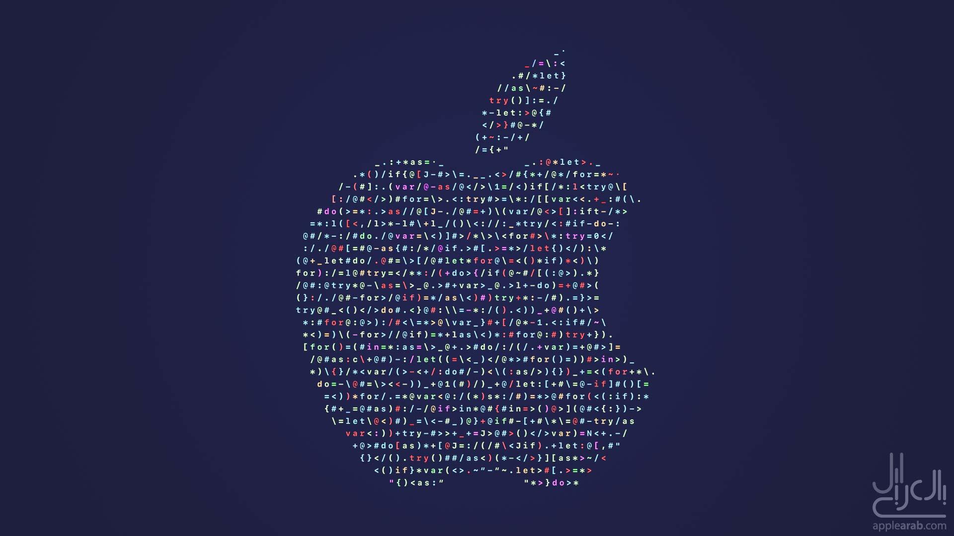 شعار Apple من كود