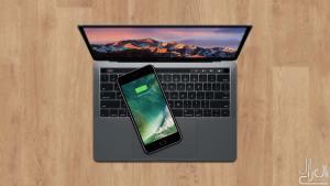 الايفون 7 يشحن لاسلكيا على ماك بوك برو 2016