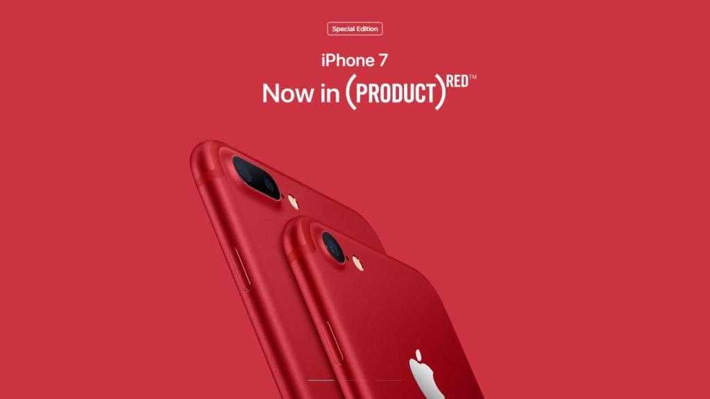 ايفون 7 باللون الأحمر
