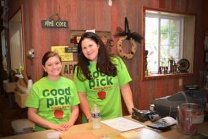 friendly staff at Apple Barn