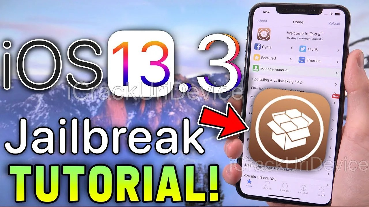 Jailbreak iOS 13.0-13.3 [iPhone 11 and below] install Cydia in 2 clicks!