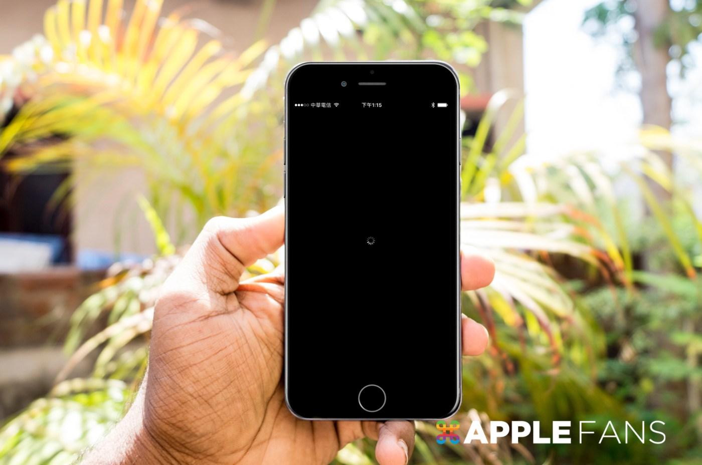 iPhone 螢幕轉圈圈
