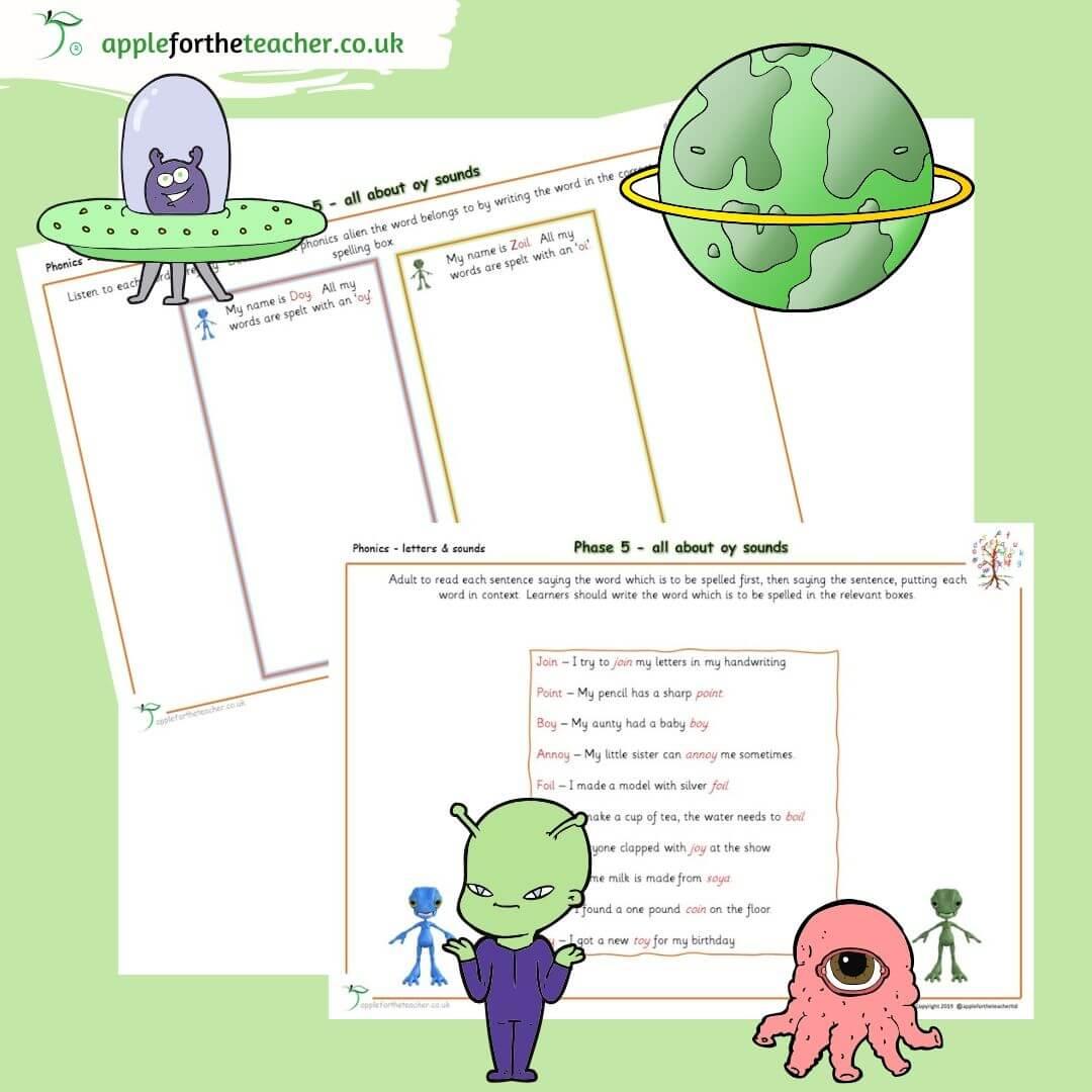 Phonics Phase 5 Oy Alternative Spellings Activity