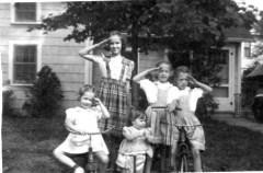 Rica, Ann, Barb, Sue, Grace_1944