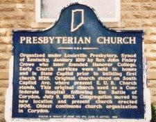Corydon Presbyterian church sign