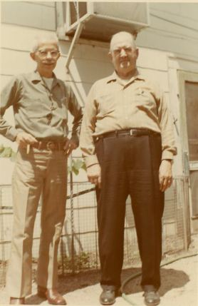 William Gordon Patten (brother of Maggie) and Hiram B. Patten, June 12, 1971
