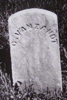 Caspar Van Zandt, 1819-1890, headstone