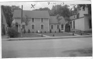Our Corydon home in 1939. Our great-grandfather's (Dr. William Daniel) house and small office is to the right.