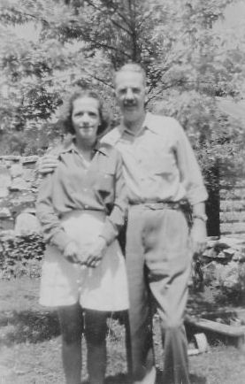 Maggie and Ted, about 1947