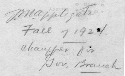 Ted Applegate, fall of 1924, back.
