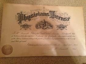 Ted Applegate medical diploma
