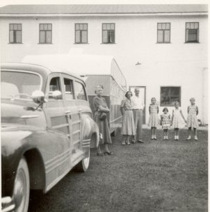 Getting ready to leave Corydon for Stamford, Oct. 1948