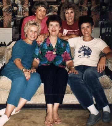 Sue, Grace, Ann, Rica, Barb, 1986, Duncanville, TX
