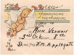 Ann's birth announcement