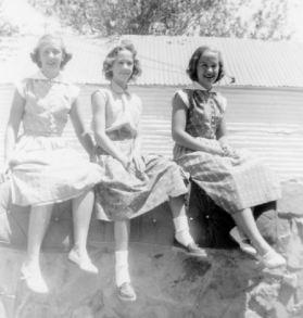 Grace, Rica, Sue, 1952, Monahans