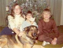 Theresa, Bill, John, Duke, Fluffy, Dec. 1975