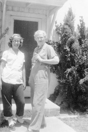 Sue and Bobbie, August 1952