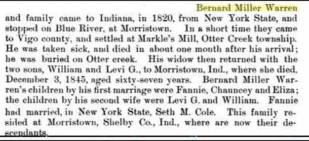 Info about Fanny Warren Cole (1798-1872).