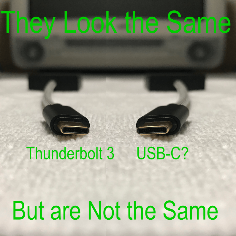USB-C vs. Thunderbolt 3