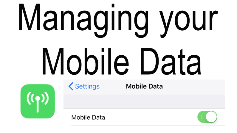 Managing your Mobile Data