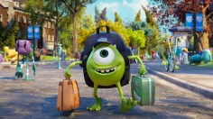 """JUST ANOTHER WIDE-EYED COLLEGE STUDENT – Mike Wazowski has arrived—and Monsters University will never be the same. With frightening new classes, a campus full of new friends and even scarier rivals, college life promises to be an interesting and uproarious adventure. Screaming with laughter and fun, """"Monsters University"""" is in theaters June 21, 2013, and will be shown in Disney Digital 3D™ in select theaters."""