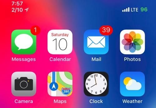 اداة DateUnderTimeX أضافة التاريخ تحت شريط الحالة في iPhone X