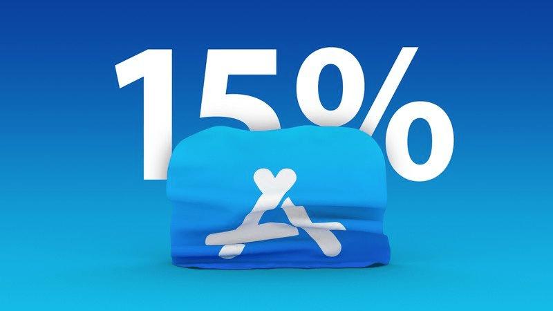 آبل تُخفِّض عمولة متجر التطبيقات من 30 بالمائة إلى 15 بالمائة لمعظم المطورين
