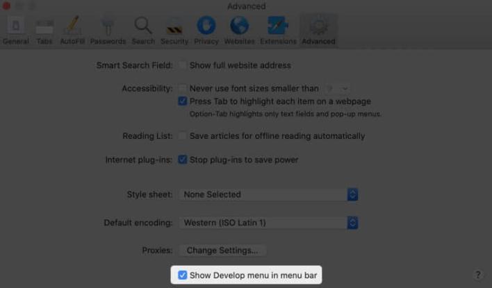 كيفية مسح Safari Cache والتاريخ وملفات تعريف الارتباط على Mac