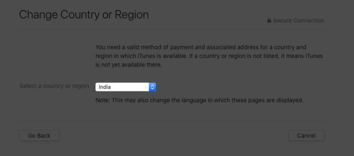 كيفية تغيير بلد أو منطقة متجر آبل على الماك