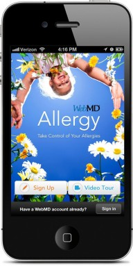 WebMD Introduces New Allergy App for iPhone. (PRNewsFoto/WebMD Health Corp.)