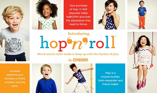 Gymboree's hop 'n' roll and KaBOOM