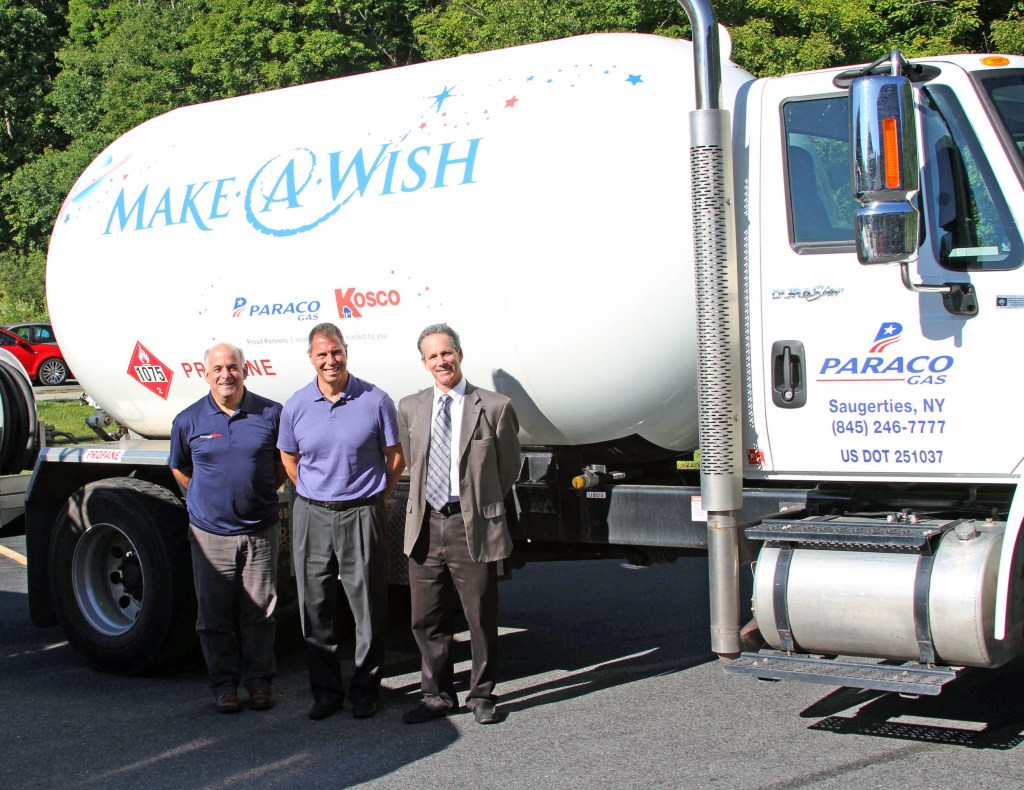 Paraco Kosco - Propane Truck Left to right: Mike Berardi, Dutchess County Manager, Paraco-Kosco, John Armentano, Vice President of Corporate Development and Acquisitions, Paraco Gas and Barry Motzkin, General Manager, Kosco with the propane truck.